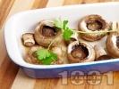Рецепта Лесни печени гъби печурки с масло на фурна